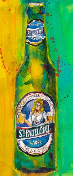 St. Pauli Girl Beer Art Print from  Original by dfrdesign on Etsy