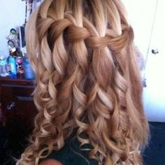Great job on her hair. Great not only for Prom, but other formal events: homecoming dance, quinceanera, sweet 16,  wedding.