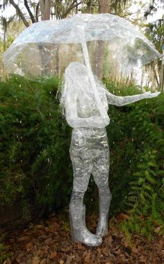 In The Rain sculpture for Scotch(R) Off The Roll Tape Sculpture Contest - 2012