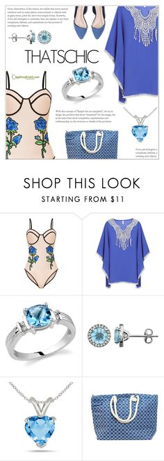 """Bare It All: Nude Swimwear"" by applesofgoldjewelry ❤ liked on Polyvore featuring Apples of Gold"