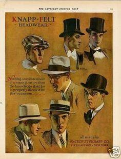 1929 Knapp Felt Men's Hats