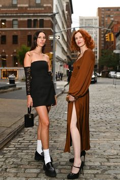 Nyfw Street Style, Vintage Inspired, Dresses, Fashion, Vestidos, Moda, Fashion Styles, Dress, Fashion Illustrations