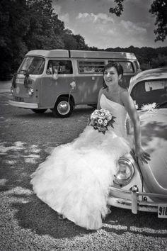 Bride vw bus vw beetle weddings