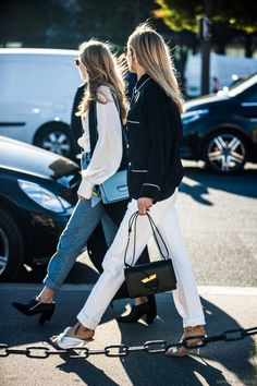 Alexandra Carl and Pernille Teisbaek made one striking fashion 'besties' couple this season.