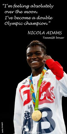 Nicola Adams became the first British boxer to retain an Olympic title for 92 years by winning gold in the women's flyweight final at Rio 2016.