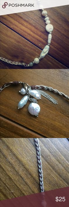 Elly Preston Pearl Braided Necklace NEW WITHOUT TAGS! Beautiful long necklace, never worn. Please let me know if you have any questions! Elly Preston Jewelry Necklaces