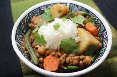 Thai Massaman Lentil Curry-It's amazing how much flavor is packed into a meal that requires very little prep, stove time, or cook time; a vegan meal to boot, one so delicious you won't miss the meat.