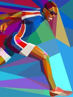 Athlete illustration - Leve o design e a criatividade sempre com você - Conheça nossos produtos - migre.me/dKNbA