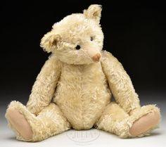 James D. Julia, Inc. - 28″ 1910 Steiff white teddy bear (Chuck & Cathy Steffes Coll.)