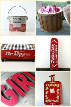 sweet red and rustic etsy finds.  camp1899