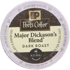 Peet's Coffee Major Dickason Blend Single Cup Coffee for Keurig K-Cup Brewers 40 count ** See this awesome image  : K Cups