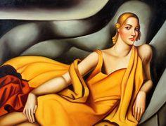 Lady In Yellow by Tamara de Lempicka