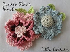 Little Treasures: Japanese Flower Brooches and Buttton Rings