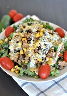 Kale Taco Salad with