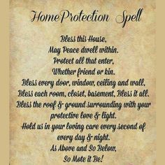 """""""Home Protection"""" SPELL"""