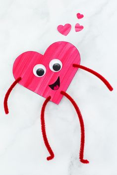 Looking for an easy Valentine's Day craft for kids? Colorful and fun Heart Buddies, made from our free template and basic craft supplies, are perfect for home or school! day crafts for school heart shapes Heart Buddies Easy Valentine's Day Craft for Kids Kinder Valentines, Valentines Games, Valentines Day Activities, Valentines Day Hearts, Valentine Party, Valentine's Day Crafts For Kids, Valentine Crafts For Kids, Craft Activities For Kids, Diy For Kids