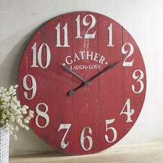 Red Shed Wall Clock Windmill Tractor Supply Co