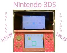Nintendo 3 DS for 100.99 with Hello Kitty case and stylus. Call or come in & see Tiffany for payment & shipping options.618-244-0291