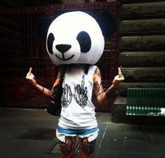 Fuck you - Panda - Masque - Rock'n'roll