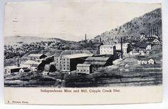 Postcard of Independence Mine & Mill Cripple Creek Dist Hileman Photo COLORADO