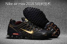 uk availability 53f98 a9d75 Nike Air Max Shoes - 2018.5 Nike Air Max Hot Run Shoes Black Gold For Men