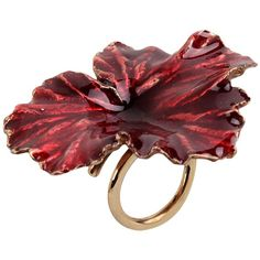 Madina Visconti Di Modrone Ring ($417) ❤ liked on Polyvore featuring jewelry, rings, red, maroon, red jewelry, red ring, bronze jewelry, bronze ring and adjustable rings