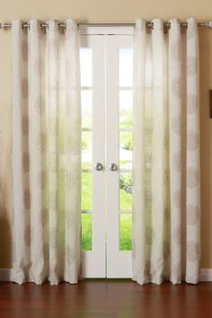 Linen Blend Medallion Printed Grommet Top Curtains - Set of 2 Panels - Taupe by Best Home Fashion Inc. on @HauteLook