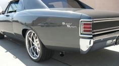 This 1967 Chevrolet Chevelle SS 454 Pro Touring has recently been subjected to a full body restoration. As you can see, the Gun Metal Gray paint job with t Chevy Chevelle Ss, Chevy Ss, Chevrolet Camaro, Chevrolet Malibu, Chevy Pickups, Camaro Ss, Corvette, Chevy Muscle Cars, Us Cars