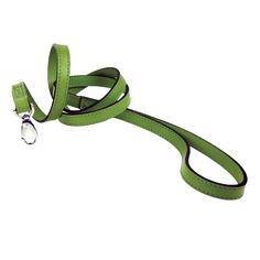 Italian Cut Grass Green Leather & Nickel Lead