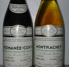 12 Of The World's Most Expensive Bottles Of Wine: 1978 DRC Montrachet sold for $24,000 a bottle. I tasted this wine in 1986 and it was incomparable, even next to several other Grand Cru white burgundies.