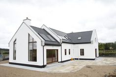 Exterior Bungalow House Ireland 15 Unusual Inspiration Ideas Modern Irish Bungalow House Plans - Homes Zone Loft House Design, Bungalow Haus Design, Modern Bungalow House, Bungalow Exterior, Bungalow House Plans, Small House Design, Modern House Design, Dormer Bungalow, Bungalow Designs