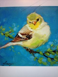 Spring Goldfinch by Lavery Art, 6 x 6 oil painting on panel, animal painting. Spring Goldfinch by Lavery Art, 6 x 6 oil painting on panel, animal painting. Paintings I Love, Animal Paintings, Paintings Of Birds, Indian Paintings, Watercolor Bird, Watercolor Paintings, Watercolor Artists, Bird Artwork, Bird Drawings