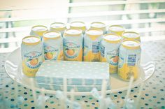 San Pellegrino is perfect for the color scheme.