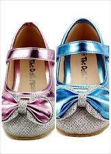 Girls Dress Shoes Wedding Party Sparkle Metallic Mary Jane Style Toddler Size