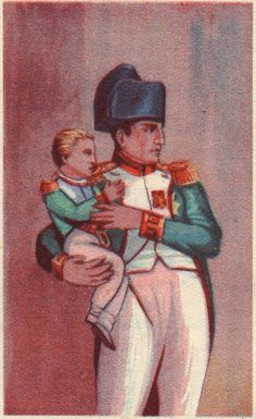 Napoleon entrusts his son to the Municipal Council of Paris before departing for Russia in 1812.