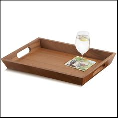Large Woodard /& Charles 14-Inch Abaca Rectangular Tray with Handles