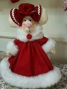 Ratona The Night Before Christmas, Christmas Love, Beautiful Christmas, Vintage Christmas, Merry Christmas, Fabric Doll Pattern, Fabric Dolls, Xmas Ornaments, Christmas Decorations