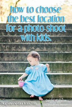 (kids)  How do I choose the best location for a photo shoot with my kids?