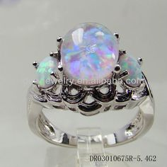 0df83dff84b7 China piedra de ópalo vintage blanco de la boda anillo de ópalo tamaño  6 7  8 9 dr03010675r-5.4g a-Anillos-Identificación del ...
