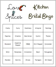 Kitchen Bridal Shower Ideas | If you are looking for no-cook Kitchen Themed Bridal Shower Games ...