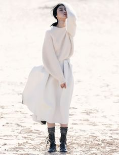 fashion editorials, shows, campaigns & more!: ji hye park by emma tempest for vogue russia july 2013 White Fashion, Look Fashion, Fashion Art, Editorial Fashion, Womens Fashion, Fashion Design, Beach Fashion, Fashion Clothes, Korean Fashion
