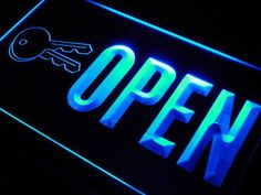 OPEN Keys Store Shop Cut NEW Neon Light Sign