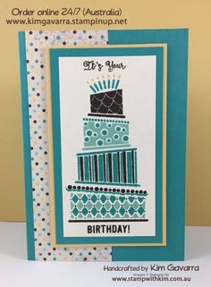 I have two super quick and fun cards for you today using the stamp set from the Occasions Mini Catalogue – Cake Crazy. This set comes in many pieces so you can layer the cake with various co…