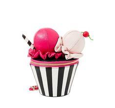 Betsey Johnson Kitsch Brain Freeze Ice Cream Sundae Wristlet for sale online Brain Freeze Ice Cream, Cute Purses, Purses And Bags, Novelty Bags, Novelty Handbags, Betsey Johnson Handbags, Sacs Design, Patent Leather Handbags, Pink Handbags