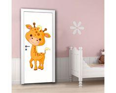 Cute girrafe, αυτοκόλλητο πόρτας παιδικό Animals And Pets, Ideas Para, Baby Room, Toy Chest, Toddler Bed, Storage, Furniture, Home Decor, Pets