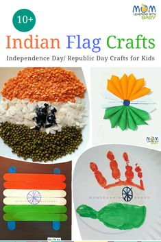 10 Indian Flag Easy Crafts for Kids Quick Crafts, Crafts For Kids To Make, Art For Kids, Diy Crafts Hacks, Independence Day Activities, Finger Knitting Projects, Indian Independence Day, India Crafts, Indian Flag