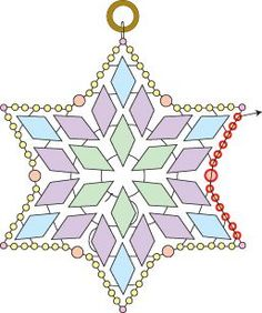 Deb Roberti's DiamonDuo Star ~ Seed Bead Tutorials,On the left,click on to Free Patterns & Tutorials,Then scroll down to Starlight pattern and click on the picture.