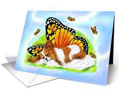 Papillon Dog Art Mystical Monarch card