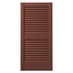 "PlyGem Louvered Shutter Color: Red, Size: 31"" H x 15"" W"