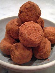 serve ganache truffles :)